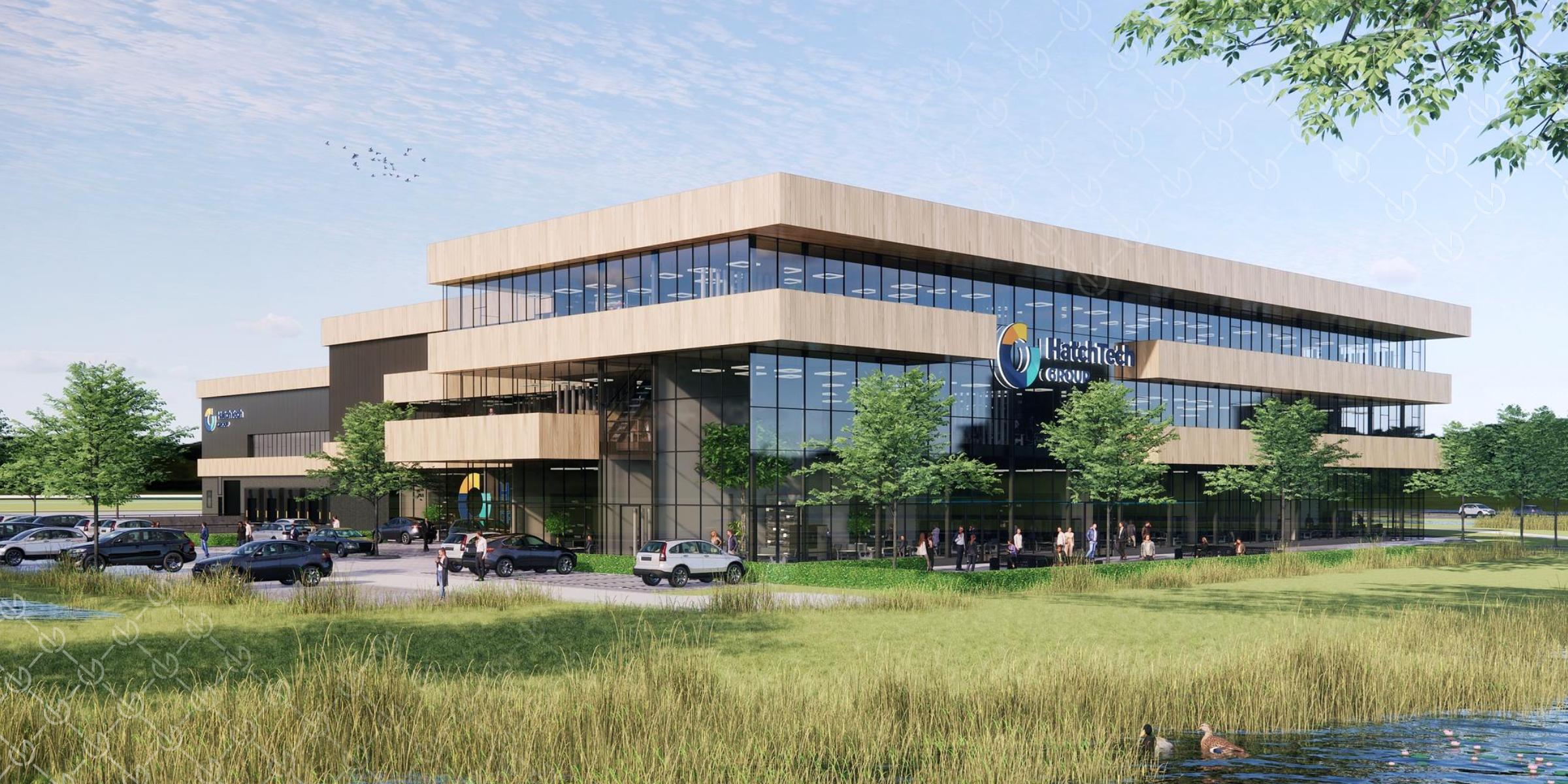 VDG Real Estate ontwikkelt 12.500 m² state-of-the-art bedrijfspand inclsuief hoofdkantoor voor HatchTech in Foodvalley Veenendaal